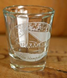NH Covered Bridge Shot Glass