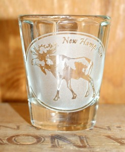 NH Moose Shot Glass