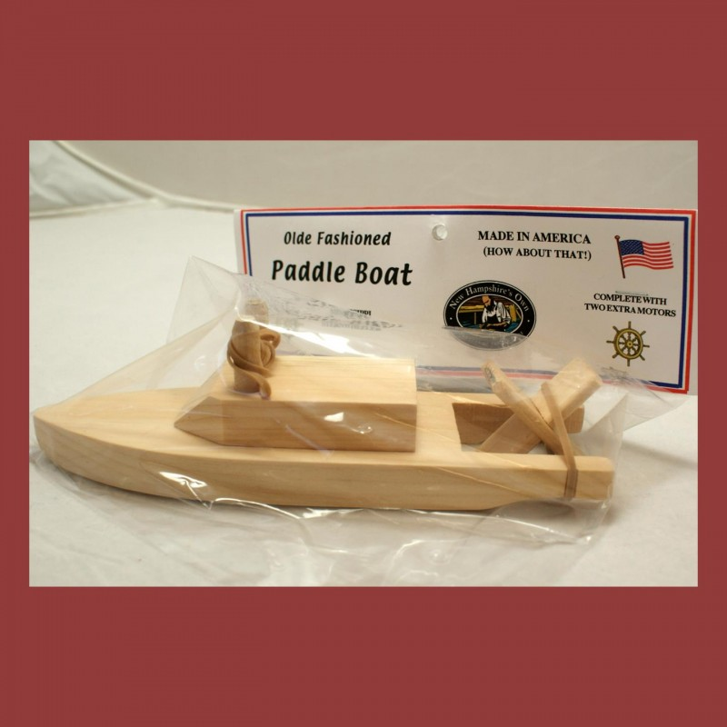 Wooden Paddle Boat From NH Toy Factory