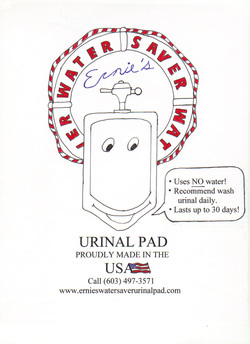 Ernie's Water Saver Urinal Pad